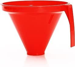 Linden Sweden Jam Funnel for Wide and Regular Jars, Ideal for Transferring Liquid and Dry Ingredients – Dishwasher Safe – Made in Sweden, Red