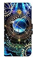 [HUAWEI P30lite] スマホケース 手帳型 ケース デザイン手帳 ファーウェイ ピー サンジュウ ライト 8255-B. 時計仕掛けマジック かわいい 可愛い 人気 柄 ケータイケース ゴシック