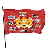 One Piece The Strawhat Pirates Flag Personality Decorative Banner Funny Garden Flag Suitable For Indoor And Outdoor, Garden, Courtyard