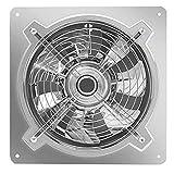 YOUCHOU Ventilador Extractor de baño, Extractor de Cocina de Acero Inoxidable de 12 Pulgadas, Ventilador de ventilación de Cocina de Gran Alcance Industrial