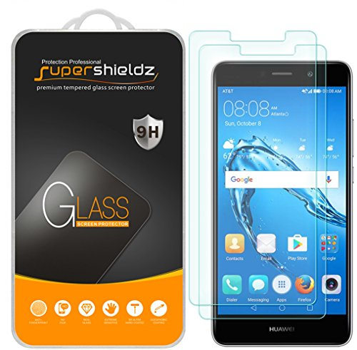 (2 Pack) Supershieldz for Huawei Ascend XT2 Tempered Glass Screen Protector, 0.33mm, Anti Scratch, Bubble Free