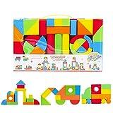 deAO Riesige Bausteine aus Schaumstoff Spielzeug für das kreative Lernen von Kindern Set von 131...
