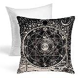 Tarot Star - Almohadas decorativas para meditación con diseño de estrella del zodiaco, estilo medieval