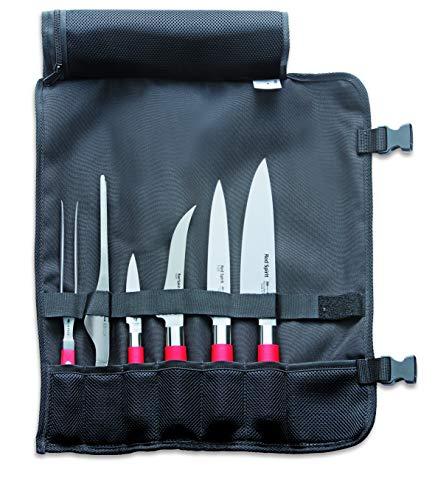 F. DICK Messerset Red Spirit (Rolltasche, Fleischgabel, Kochmesser, Filetiermesser, Officemesser, Büffet-Pinzette, Ausbeinmesser 56° HRC) 81767000