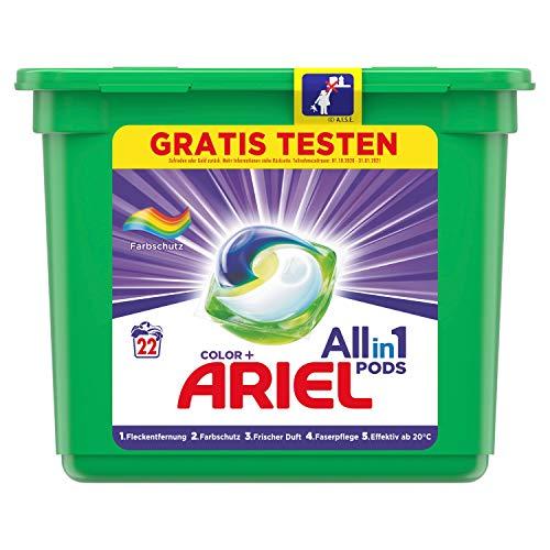 Ariel Waschmittel Pods All-in-1, Color Waschmittel, Farbschutz, 22 Waschladungen