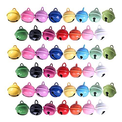 Vasemele 45 Piezas Cascabeles de Colores Cascabeles de Metal cascabeles pequeños Cascabeles navideños Cascabeles Manualidades Cascabeles Metal Colores Multicolor Campanas Metálicas
