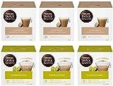 Nescafé Dolce Gusto Kit Degustazione di Caffè Cortado Espresso Macchiato e Cappuccino, 6 Confezioni da 16 Capsule (96 Capsule)