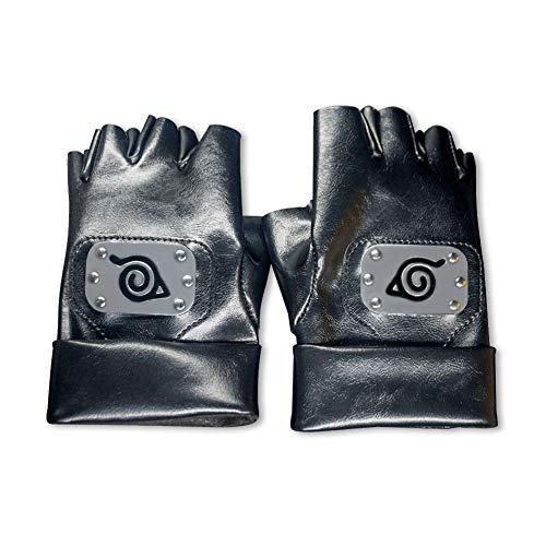 Myuilor Cosplay Handschuhe Hatake Kakashi Ninja Cosplay Zubehör (Schwarz), Mittel