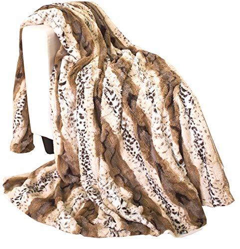 Home Edition Doubleface Fellimitat Kuscheldecke Decke Tierfellmuster Leopard 150x200 cm