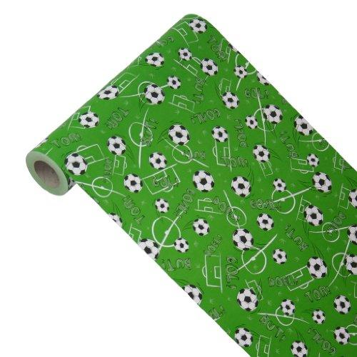 JUNOPAX 48437605 Geschenkpapier 50m x 0,40m Fußball