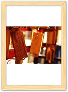 CaoGSH Tableau de bénédiction de la Chine en bois - Décoration d'intérieur - A4