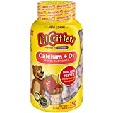 L'il Critters Kids Calcium Gummy Bears with Vitamin D3 ,...