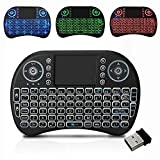 InfiDeals LED Backlit Mini 2.4G Wireless Keyboard with Touchpad QWERTY Keyboard Air Mouse