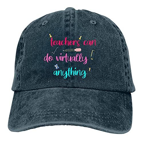 Jopath Teachers Can Do Virtually Anything-2 Unisex Gorra de béisbol ajustable al aire libre gorra de camionero sombreros