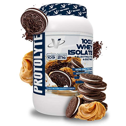 VMI Sports | ProtoLyte Whey Isolate Protein Powder | Low Calorie Whey Protein Powder for Weight Loss | Protein Powder for Muscle Gain | Digestive Enzymes (Peanut Butter Cookies & Cream, 1.6 Pounds)