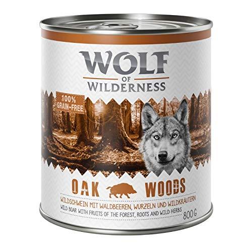 GroßhandelPL Wolf of Wilderness Adult Hunde-Nassfutter Oak Woods - Wildschwein 48er Pack (48 x 800 g)