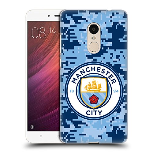 Head Case Designs Oficial Manchester City Man City FC Brick Bluemoon Camuflaje Digital Carcasa rígida Compatible con Xiaomi Redmi Note 4