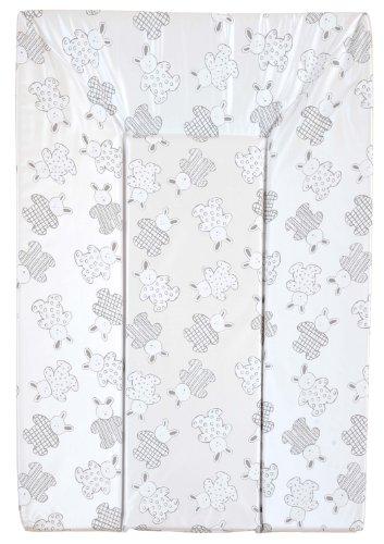 Looping BCLP+ - Colchón cambiador con triple espuma de seguridad, PVC, 48 x 77 cm, diseño de conejos