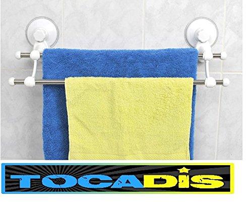 TOCADIS Porte Serviette Double Barre Ventouse Top Adherence