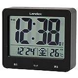 ランデックス(Landex) 目覚まし時計 電波 デジタル タッチライトマスター 大画面液晶 ブラック YT5253BK