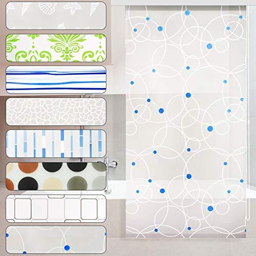 casa pura Modernes Duschrollo Sunny Bubbles mit Kassette   schnelltrocknendes Rollo für Dusche und Badewanne   bis zu 240 cm Länge ausziehbar   zahlreiche Breiten wählbar (Breite 80 cm)