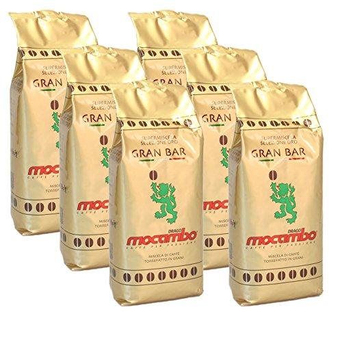 Mocambo Gran Bar Selezione Oro, 1000g ganze Bohne 6er Pack