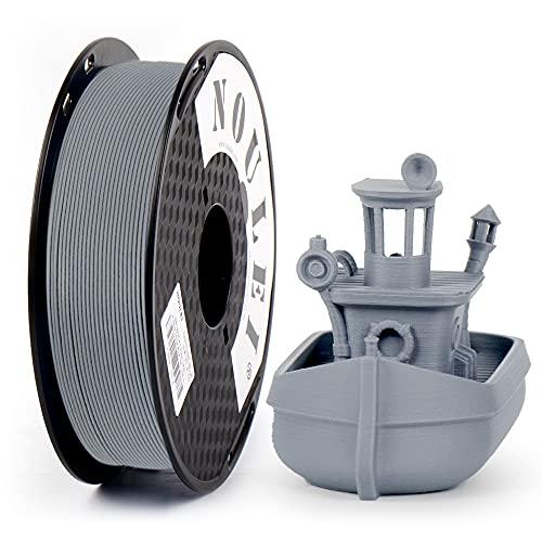 Noulei Matte PLA 3D filamento per stampante 1,75 mm, grigio ferro, 0,5 kg 500 g bobina