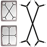 Best Bed Sheet Suspenders - Foloda Bed Sheet Fasteners, 2 PCS Adjustable Crisscross Review