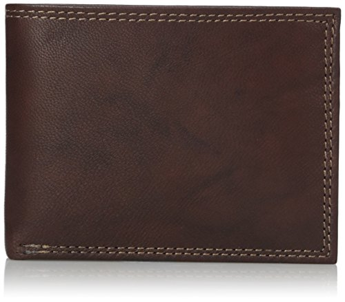 Buxton Men's Hunt Credit Card Billfold Wallet, Brown, One Size