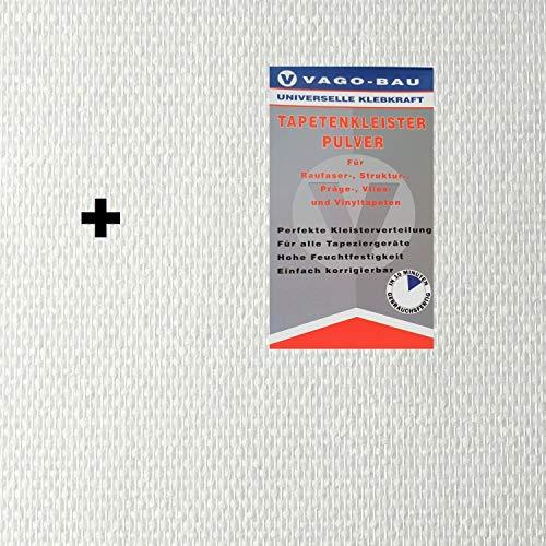 1x25m² Glasfasertapete Glasfasergewebe Doppelkette fein Tapete 140g + Kleber
