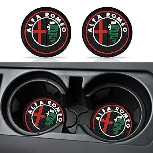 Decoración interior del coche con emblema de coche, almohadilla antideslizante para Alfa Romeo Giulia 159 147 156 166 GT Mito Giulietta Stelvio, accesorio de coche (B)