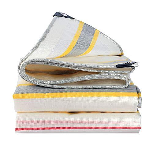 Tarp Heavy Dickes Material, wasserdicht, ideal für Tarpaulin Überdachung-Zelt, Boot, Wohnmobil oder Pool Cover Heavy Duty - 220 Gramm/Quadrat,10m×12m