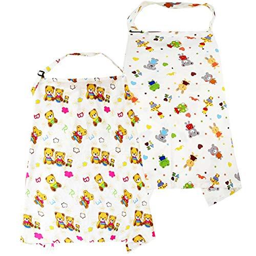 Fundas De Lactancia,2PCS Poncho de Enfermería Pañuelo Lactancia Protección Lactancia Materna Privacidad Suave Cómodo y Transpirable