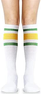 Premium Triple Stripe Adult Knee High Tall Athletic Tube Socks