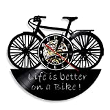 Nfjrrm Reloj de Pared de Vinilo con diseño de Bicicleta, lo...