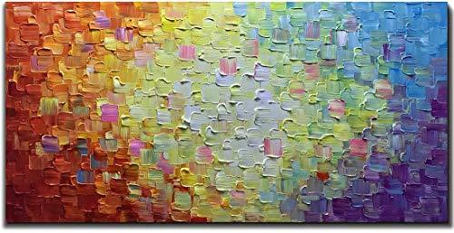 Dipinti ad olio 3D, trama colorata Quadri astratti, dipinti su tela 100% dipinti a mano, soggiorno Camera da letto casa Decorazioni per la camera dei bambini (senza cornice) 60x120 cm (24x48 pollici)