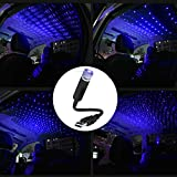 LEDCARE Car Roof Star Night Light, Portable Adjustable USB Flexible Interior LED Show Romantic Atmosphere Star Night Projector for Cars,Bedrooms,Parties,etc (Blue)