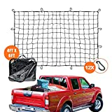"""OYEL Super Duty Truck Cargo Net: 4'x6' Premium Bungee Cord Net Stretches to 8'x12' 