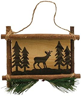Deer Wooden Sign Collectible Hanging Ornament, 5-inch