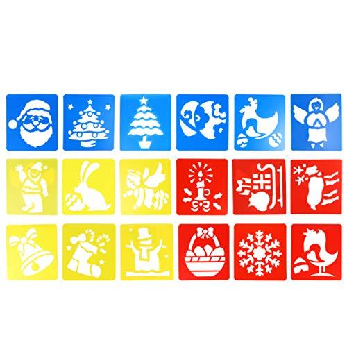 Plantilla de pintura navideña HEALLILY para dibujo de Navidad, ideal para hacer manualidades, Navidad, con diseño...