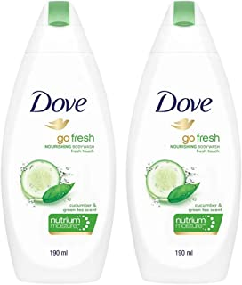 Dove Go Fresh Nourishing Body Wash, Mild, Gentle Formula For Softer Smoother Skin,190 ml (Pack of 2)