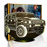KangYD Man Car Suv 3D Luz nocturna, LED Illusion Lamp, Kid Friend Gift, G- Control de Telefonía Móvil, Decoración moderna, Niño Lámpara