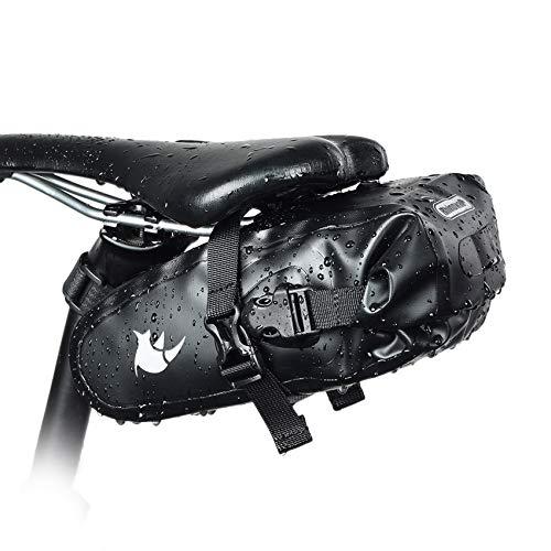 Rhinowalk Borsa della Sella per Bicicletta Impermeabile Borsa Sottosella con Tasca Borsa Bicicletta da Sella per Ciclismo/MTB/Bici