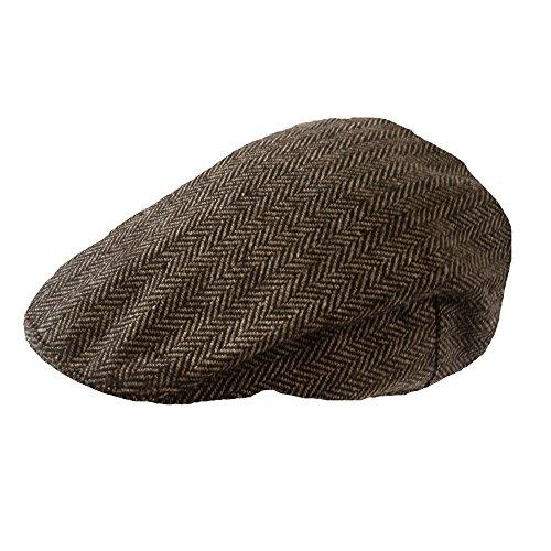 TOSKATOK® Jungen Mädchen Kinder Tweed Flat Cap Schirmmütze