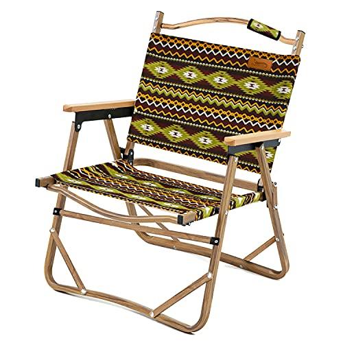 DesertFox アウトドア チェア キャンプ チェア 軽量 折りたたみ 椅子 L サイズ 78X54×51cm 耐荷重 150kg コンパクト 携帯便利 キャンプ椅子 DY (緑)