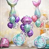 Himeland Juego de globos de látex con diseño de sirena, decoración para fiestas, decoración de fiestas de bebés, fiestas de cumpleaños infantiles, accesorios de fiesta
