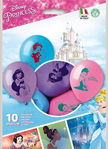 PartyCube- Disney Set 10 Palloncini Principesse, Multicolore, Taglia Unica, 33677