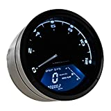 Astra Depot 12000RPM KMH MPH LCD Digital Odometer Speedometer Tachometer Blue For 4 Stroke 2 4 Cylinders Motorcycle