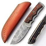 MNSA-8791 Cuchillo de Cocina de Chef de Acero de Damasco Hecho a Mano a Medida. Palanquilla   Cuchillos Cámping   Interior   al Aire Libre Plegable Pescar