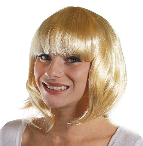 I LOVE FANCY DRESS LTD Perruque Blonde pour Femme Courte Coupe au carré avec Frange Style années 1920.